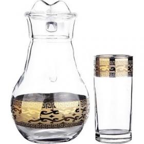 Версаче Голд Набiр глечик1л+склянка/соку v-290мл Iстамбул EAV91-3944/402 (под.уп.) 7пр. 54080