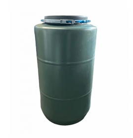 Бочка кругла 250л (акційна) зелена 38478